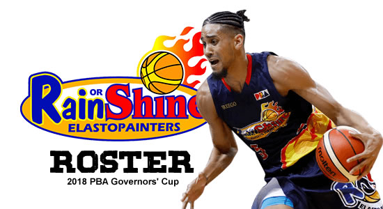 LIST: Rain or Shine Elasto Painters Roster 2018 PBA Governors' Cup