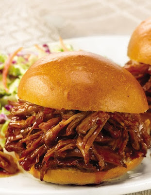 slow cooker shredded barbecue pork
