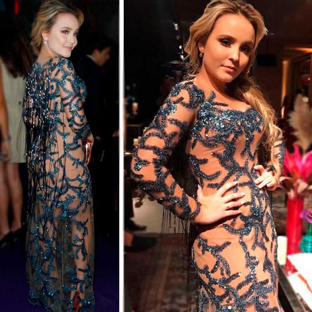Larissa Manoela vestido Lucas Anderi