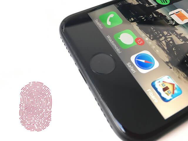 menyiapkan Touch ID di iPhone, langkah 1