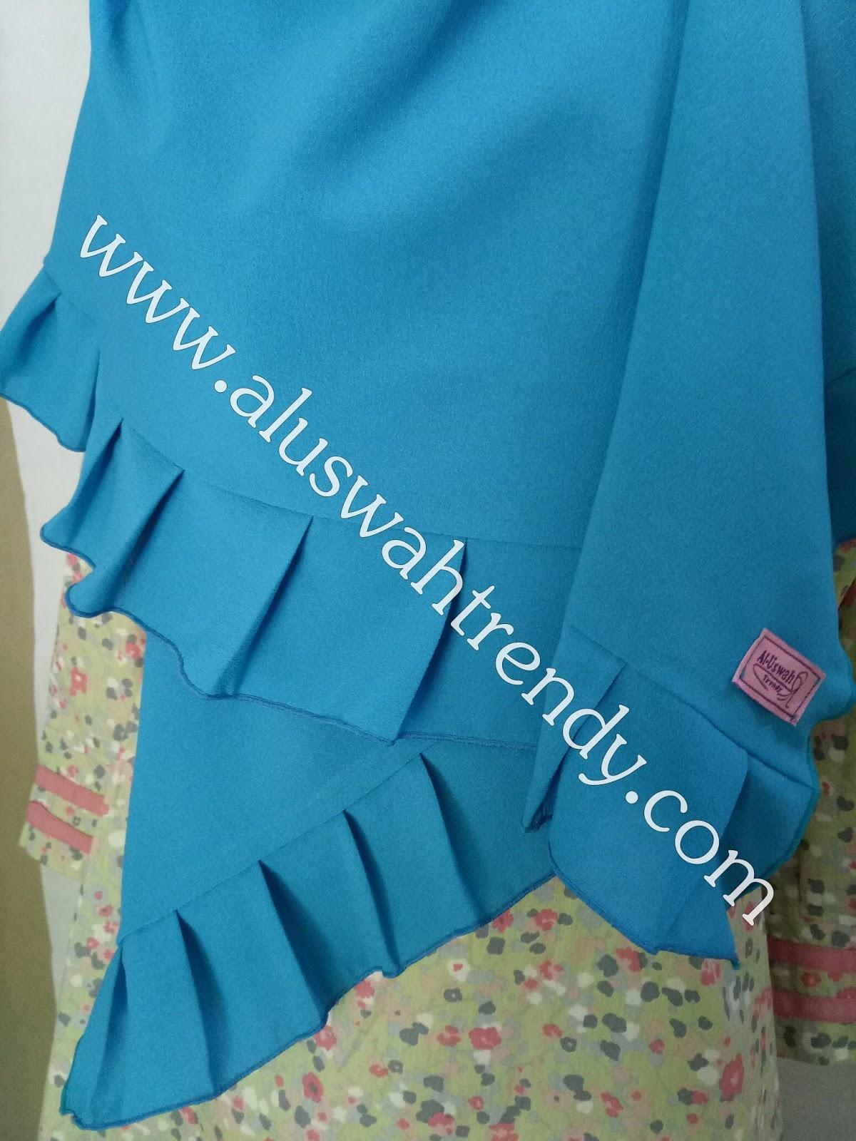Jilbab Khimar Segiempat Rempel Warna Biru 21