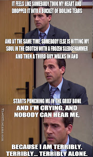 Michael Scott The Office Meme Funny Quote Grief Counseling Bucket Of Boiling Tears