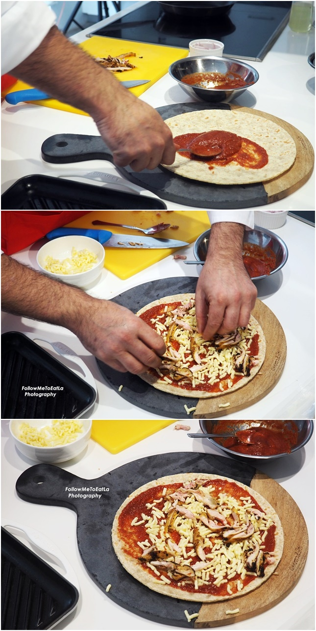 The Making Of Tandoori Chicken Pizza with Sour Cream and Onion