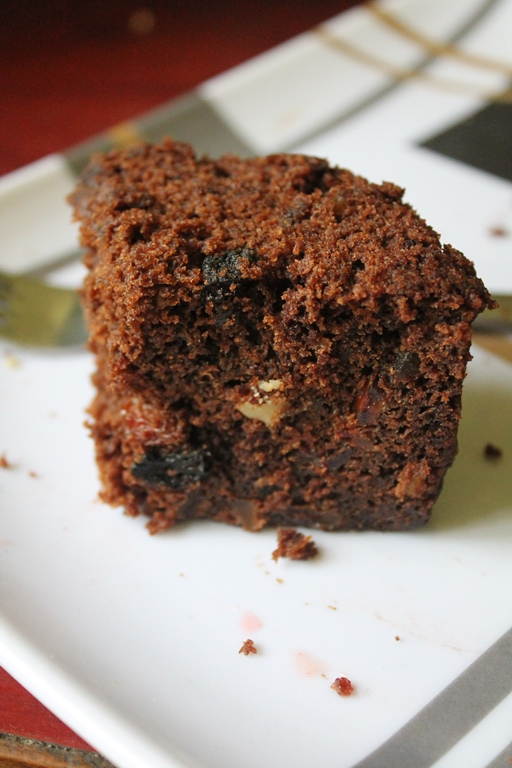 Microwave Rich Fruit Cake