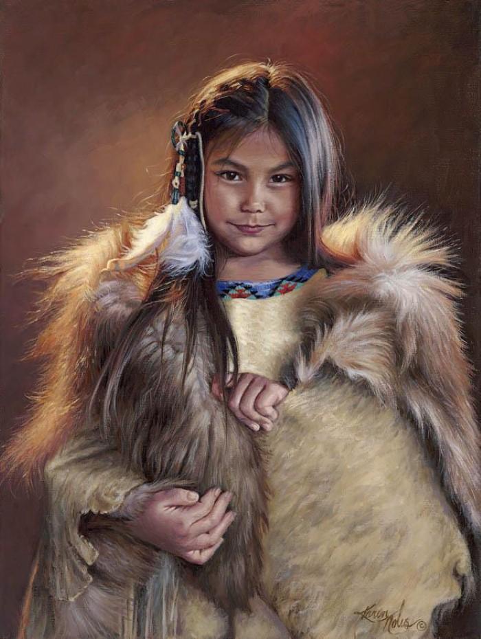 Картины об индейцах. Karen Noles 13