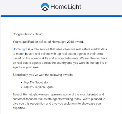 David Barr Realtor top agent in 2018 according to HomeLight
