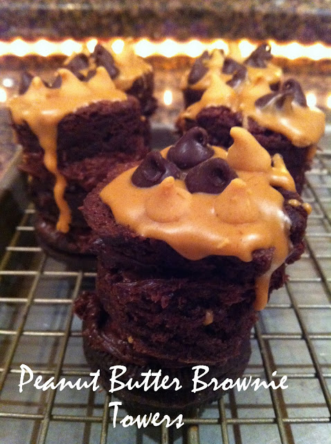Peanut Butter Brownie Towers