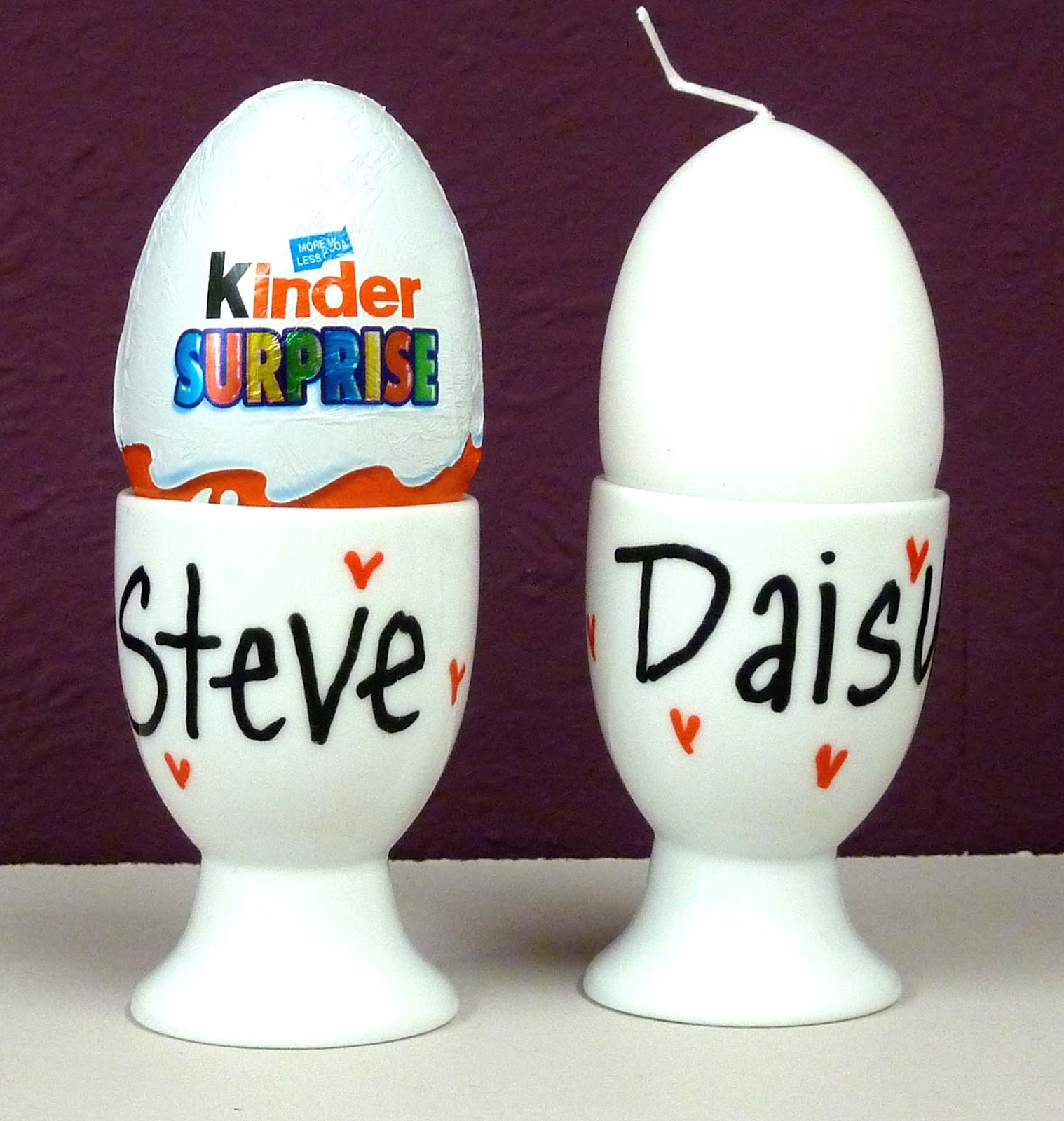 Personalised Wedding Favour And Place Card Duo 2 In 1 Egg Cups