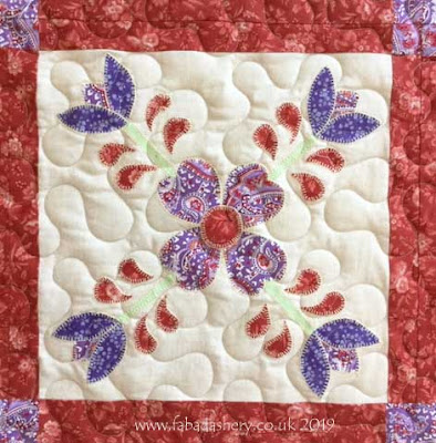 Detail: Applique block, made by Dorothy
