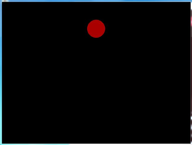 C graphics program for moving ball animation