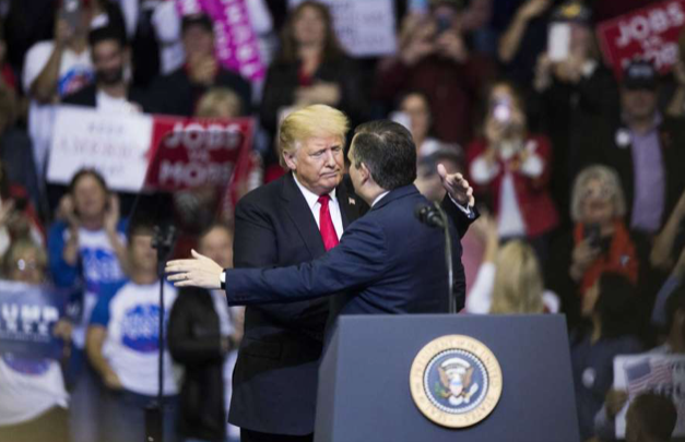 Trump is the star, but Cruz has rally attendees' vote