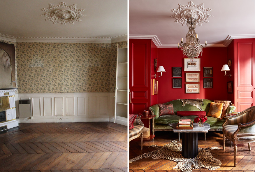 Paris apartment before and after by A+B Kasha