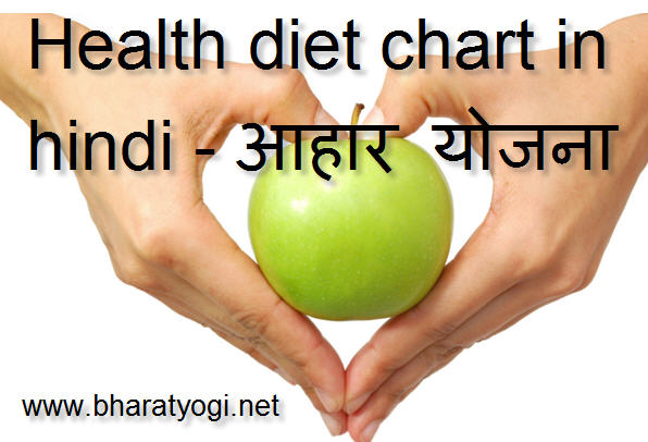 diet chart for healthy body