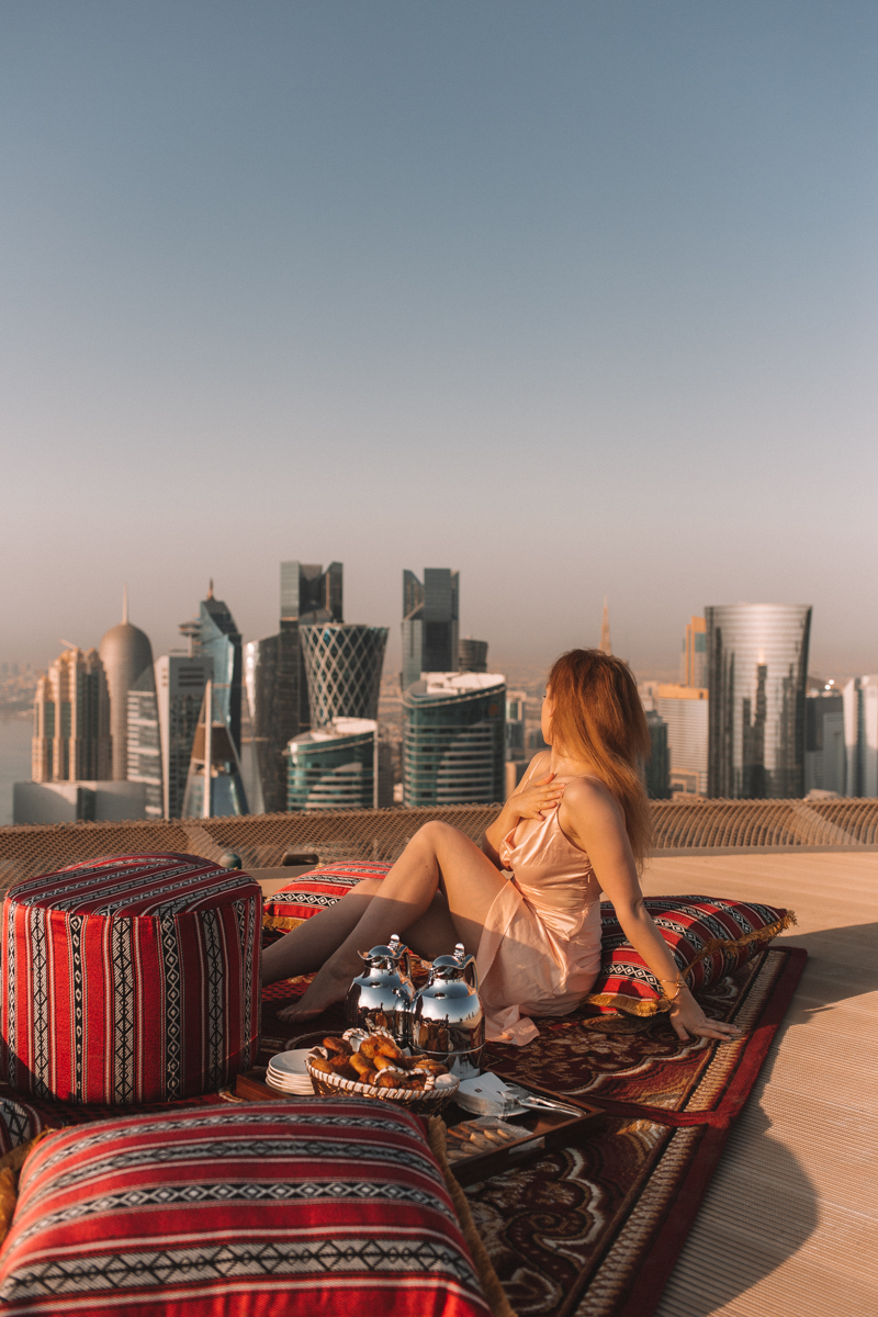 Breakfast On The Helipad Of The Shangri-La Doha