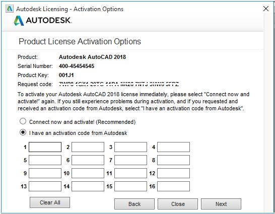 Mã kích hoạt cài đặt Autocad