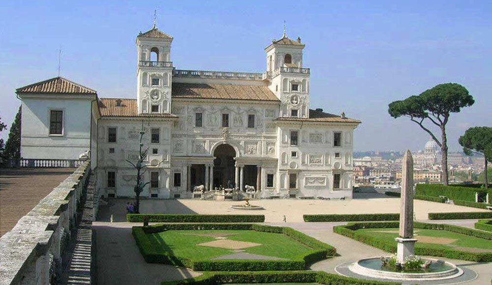 Minence rouge villa medici the french school in rome in a fantasy by claude gell e called - Villa medicis rome chambres ...