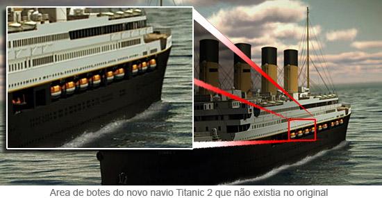 Titanic II - Area de botes salva vidas do novo navio que não existia no original
