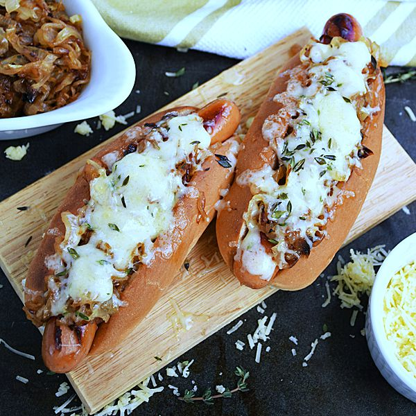 French Onion Hot Dogs | by Life Tastes Good