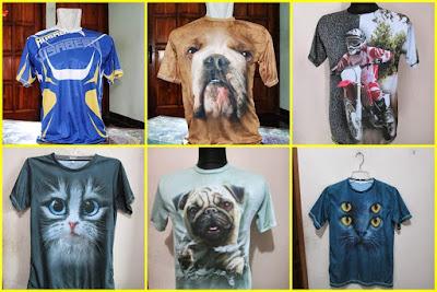 Produk Sablon dan Print Kaos