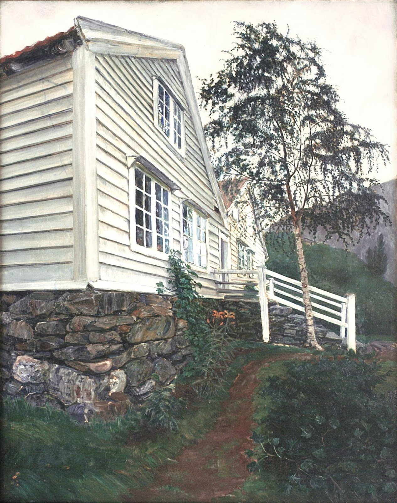 'The Vicarage.' Image: Courtesy of Nikolai-Astrup.no. Unauthorized use is prohibited.