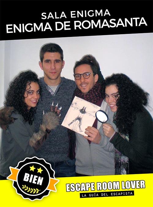 Sala Enigma - El enigma de Romasanta - Escape Room - Opiniones