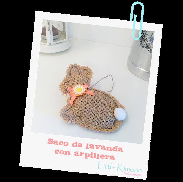 Saco de lavanda con arpillera little kimono handmade - Saco arpillera ...