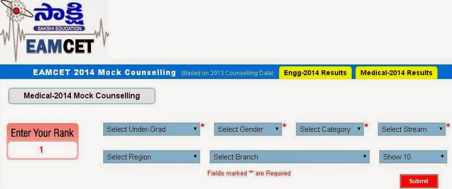 Eamcet 2014 Mock counselling