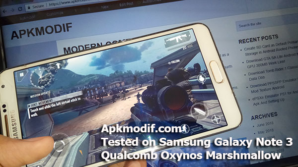 Download Modern Combat 4 : Zero Hour Mod Apk Data Obb Tested Works