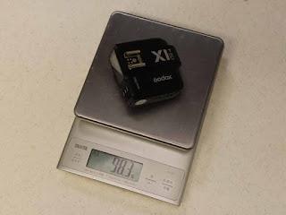 Godox X1T-C TTLワイヤレスフラッシュトリガー キヤノン用 本体の重量 98.3g(電池無し)