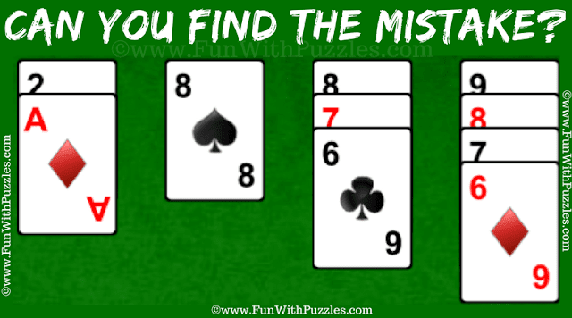 It is Mistake Finding Puzzle for Genius people in which you challenge is find the mistake in the given Demon Solitaire Card Game Snapshot
