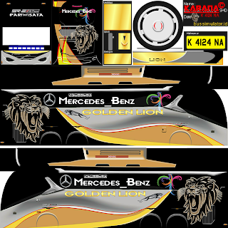 Download Livery Bus Golden Lion