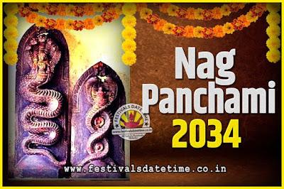 2034 Nag Panchami Pooja Date and Time, 2034 Nag Panchami Calendar