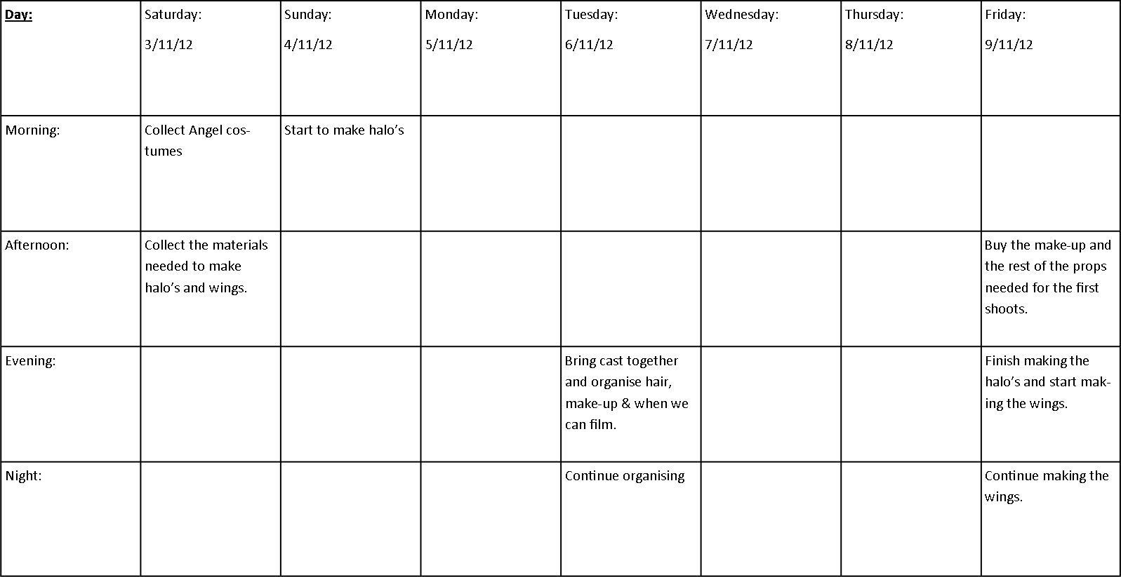 Dissertation proposal service timetable