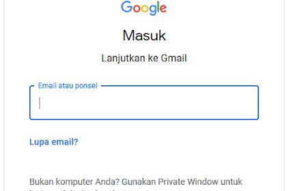 Sekarang Login Gmail Bisa Pakai Nomor Hape