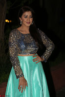Nikki Galrani in Green Skirt  Top at Marakathamani music launch ~  Exclusive (18).JPG