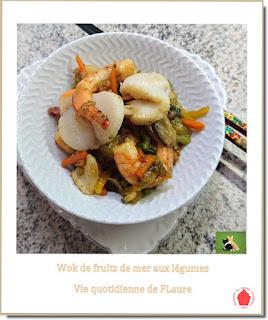 Vie quotidienne de FLaure : Wok de fruits de mer et légumes à la thaïlandaise
