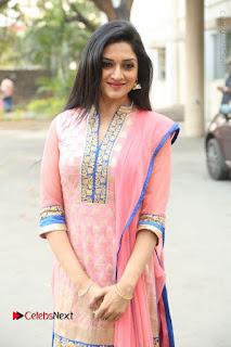 Actress Vimala Raman Stills in Beautiful Pink Salwar Kameez at (ONV) Om Namo Venkatesaya Press Meet  0226.JPG