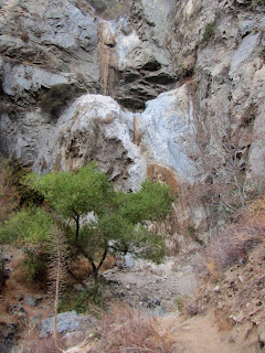 Fish Canyon Falls, dry as a bone on October 25, 2014