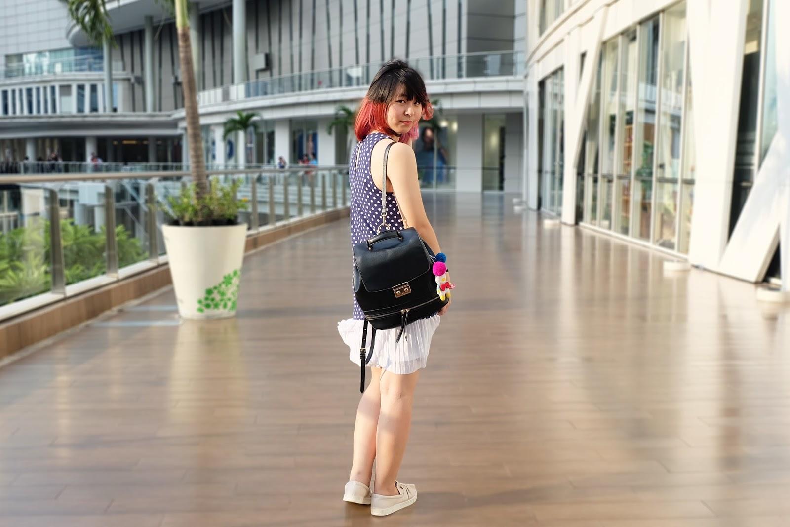 polkadot sleeveless dress outfit | bigdreamerblog.com