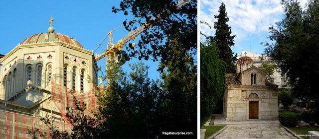 Catedral Ortodoxa de Atenas e capela de Agios Eleftherios