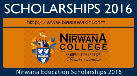 Nirwana Education Scholarships 2016