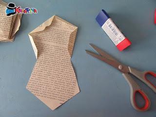 modello della stella origami 3d