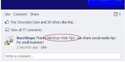 how to mention a business on facebook