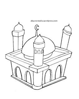 Gambar Sketsa Mewarnai Masjid Terbaru 201719
