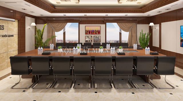 Thiết kế nội thất phòng họp mang phong cách mở chuyên nghiệp cho không gian căn phòng nét ấn tượng