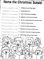 ELEMENTARY SCHOOL ENRICHMENT ACTIVITIES: CHRISTMAS SONG SHEETS