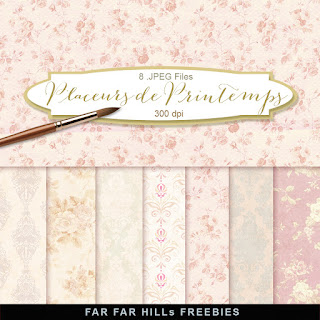 New Freebies Paper Kit - Placeurs de Printemps