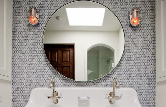 To Da Loos Feature Wall Ideas For Round Mirrors