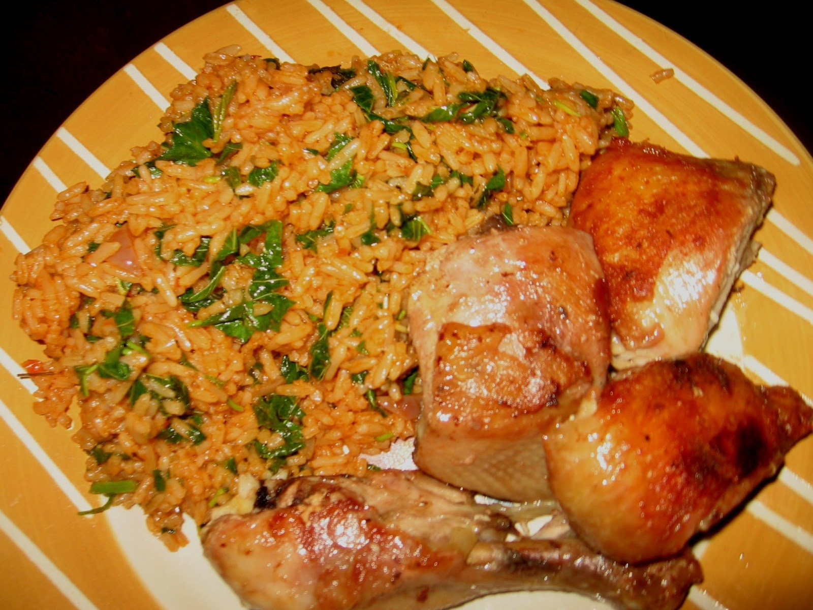 How to cook nigerian green jollof rice yummy serving of green jollof rice ccuart Gallery