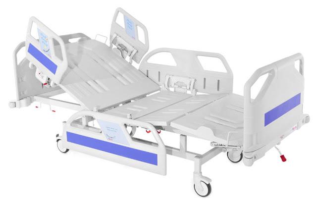 tempat tidur pasien di rumah sakit
